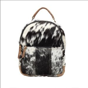 MYRA BAG compact hairon backpack NWT